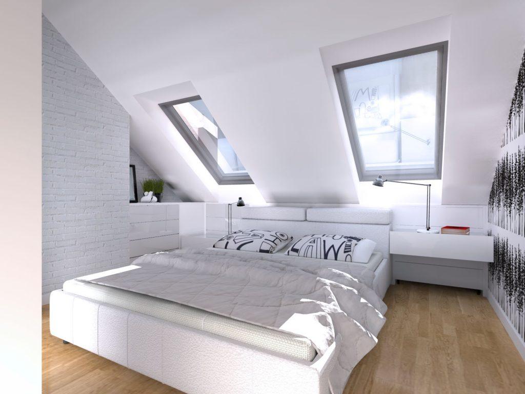 Aranżacja loftu sypialnia