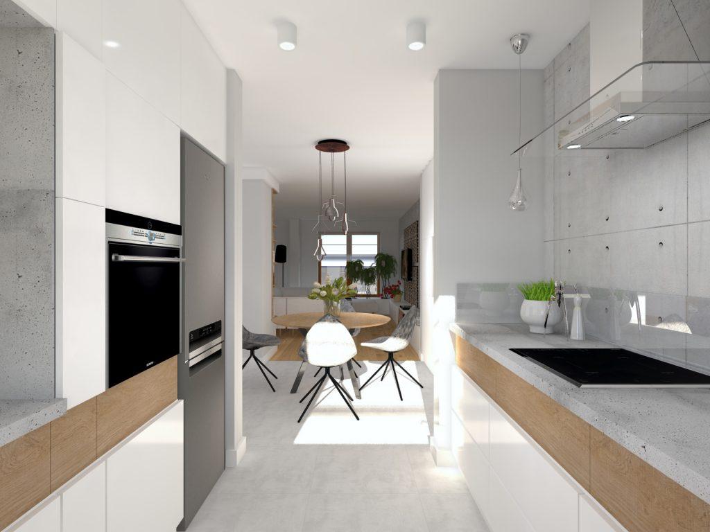 Aranżacja betonowej kuchni