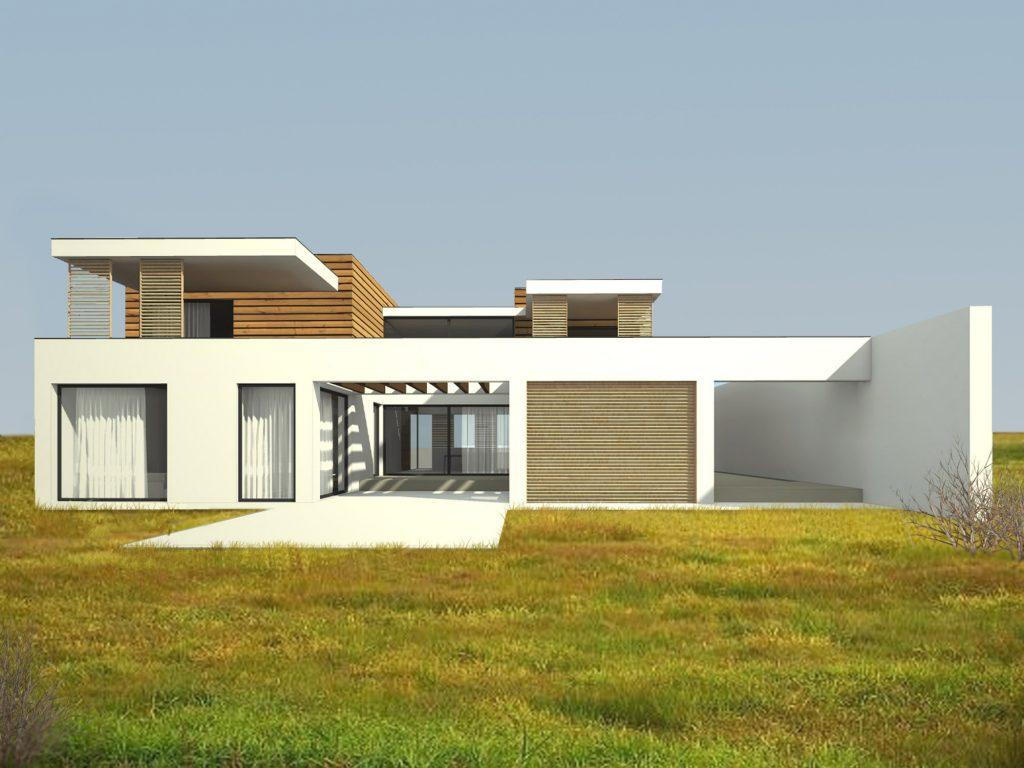 Projekt nowoczesny dom atrium