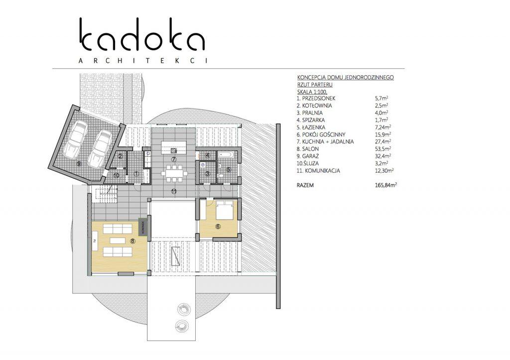 Rzut parteru KADOKA Architekci