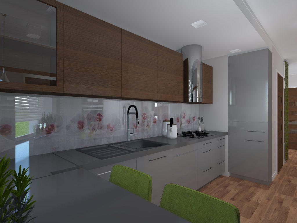 Projekt kuchni małe mieszkanie Katowice