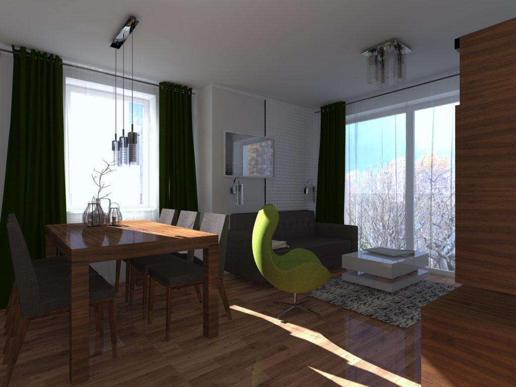 Projekt salonu małe mieszkanie