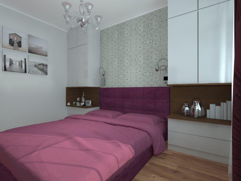 Sypialnia małe mieszkanie architekt