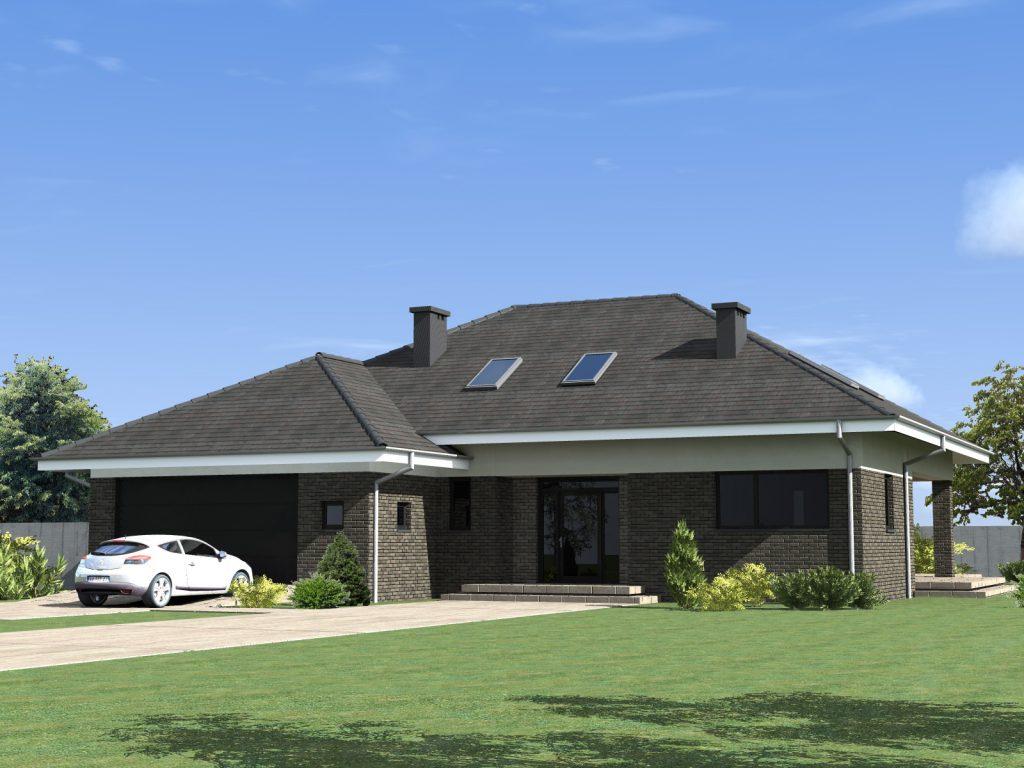 Duży dom jednorodzinny architekt