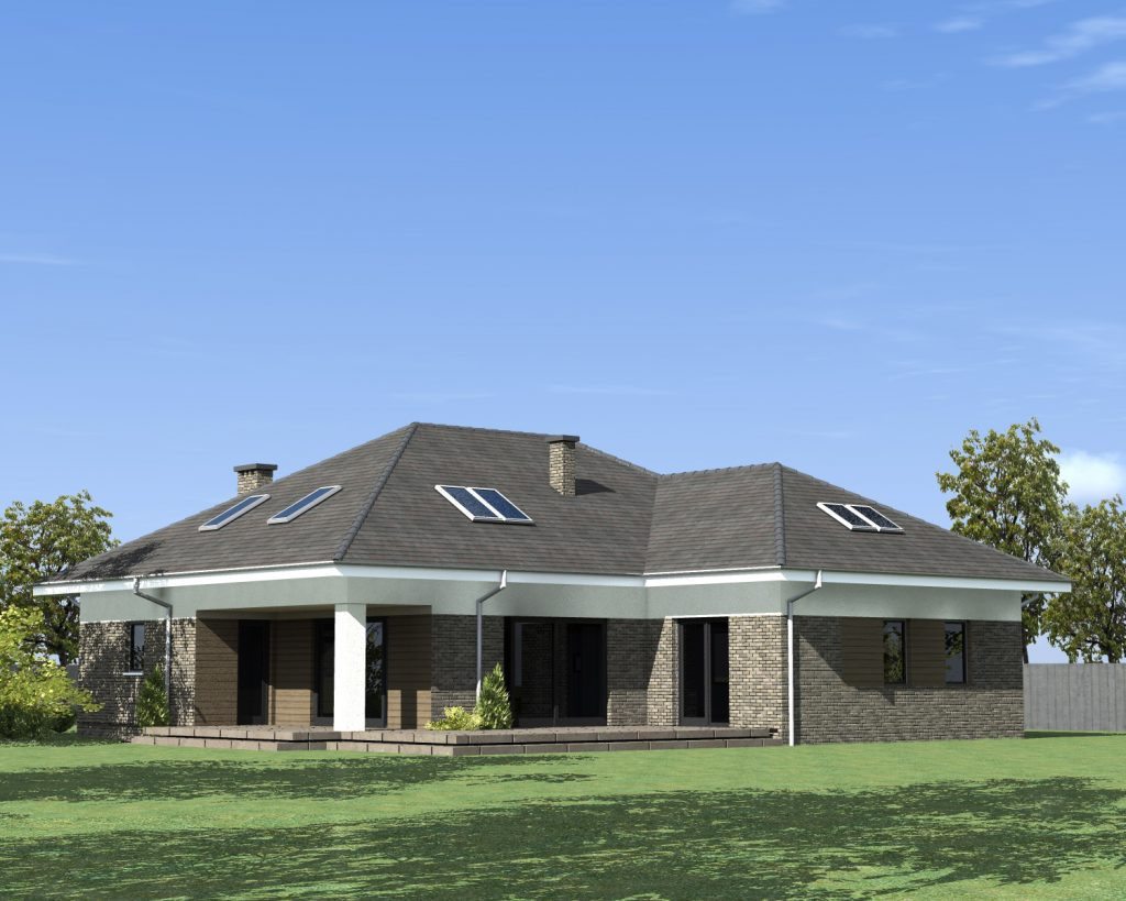 Funkcjonalny duży dom projekt