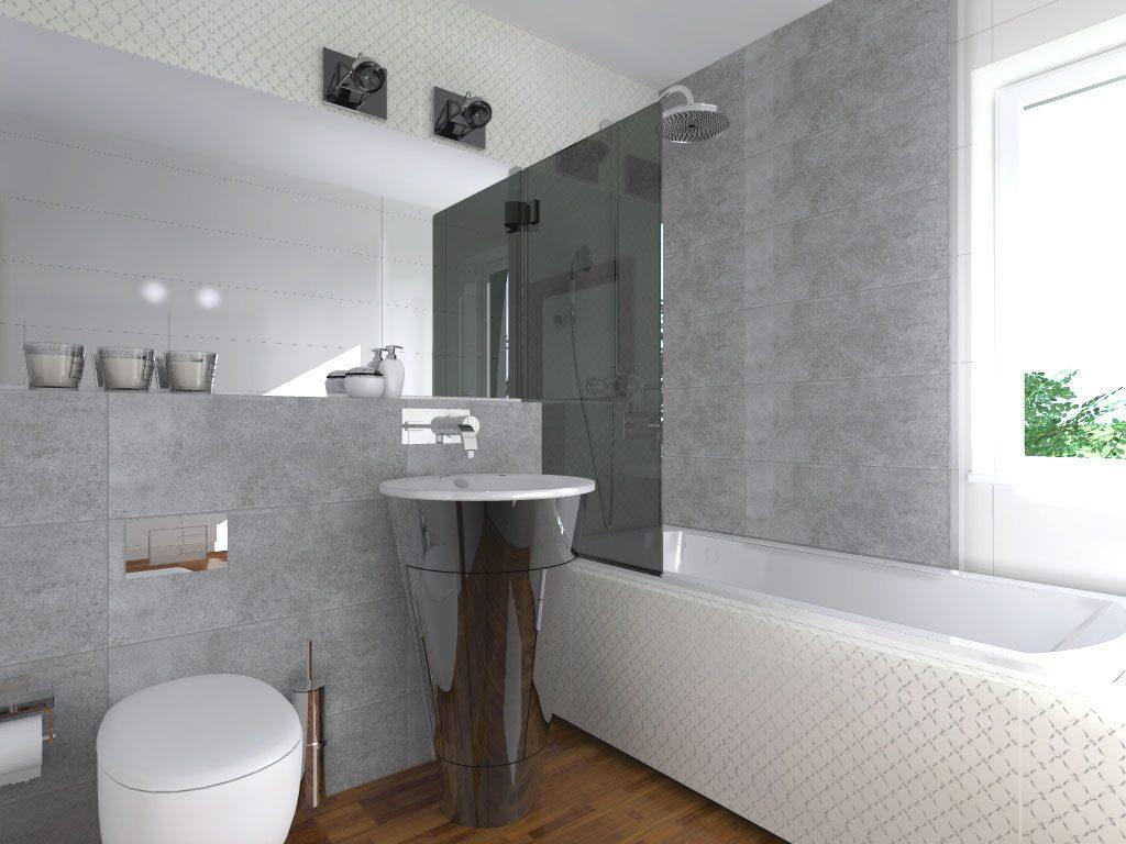 Łazienka nowoczesna retro