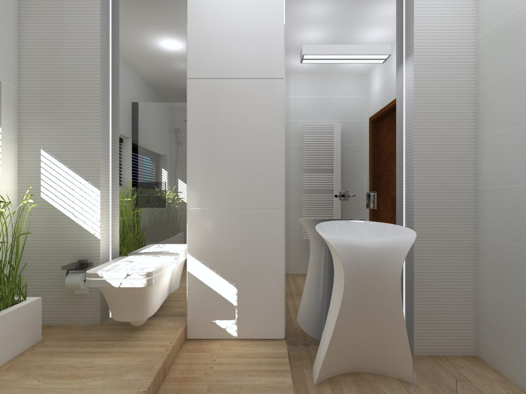 Luksusowa łazienka architektura