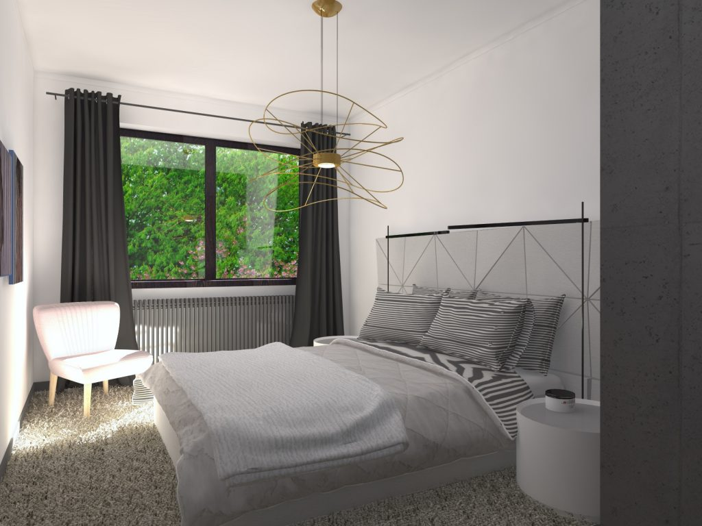 Luksusowa sypialnia KADOKA Architekci