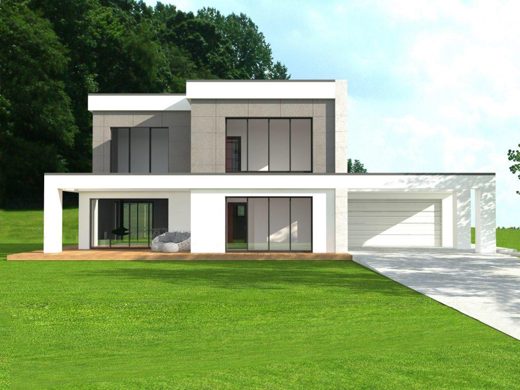 Energooszczędny dom płaski dach