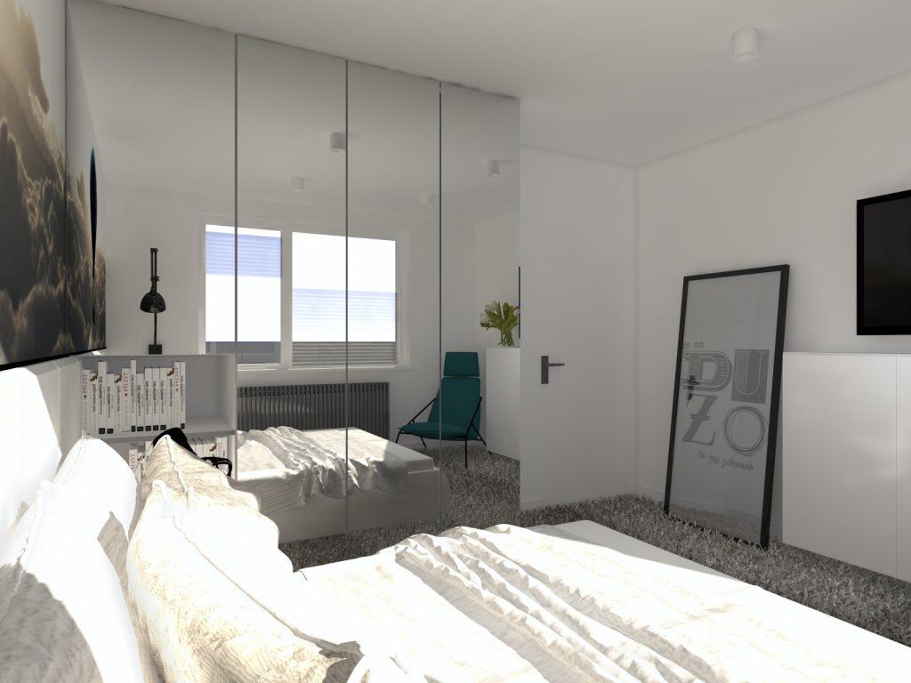 Projekt sypialni w bloku