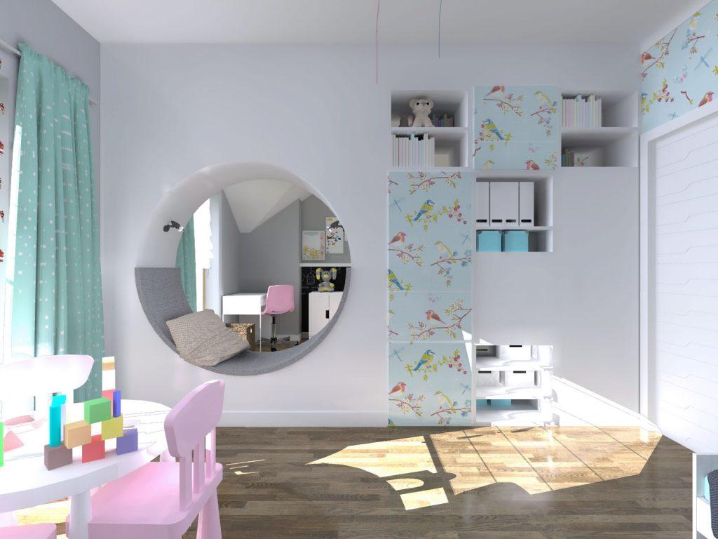 Pokój bliźniaczek architektoniczny projekt