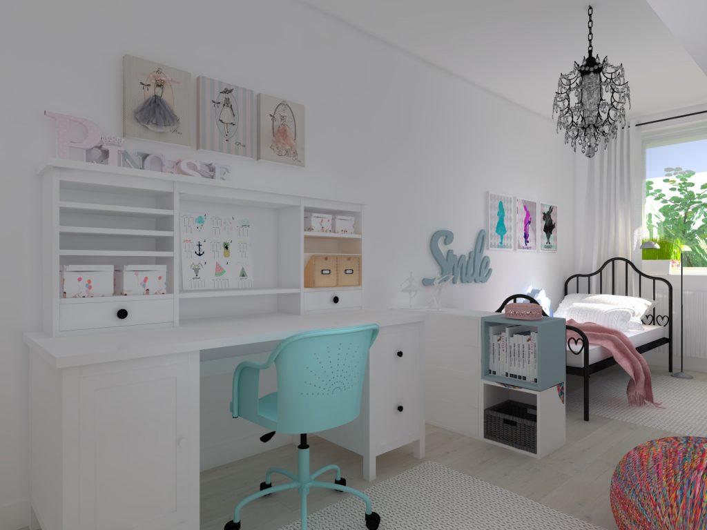 Architekt pokój dziewczynki