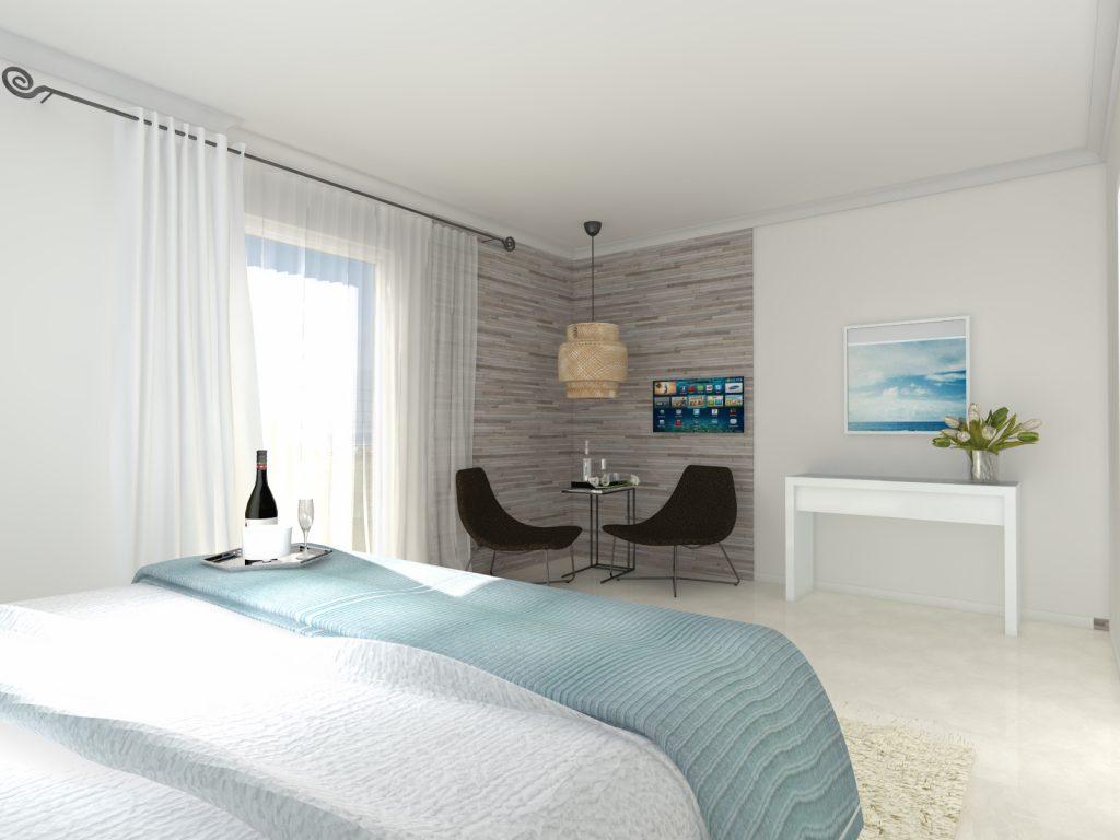 Projekt apartamentu na Korfu