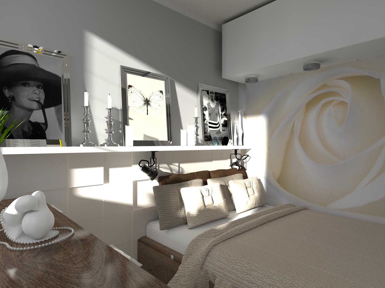 Sypialnia W Kawalerce Projekt Wnętrza Kadoka Architekci