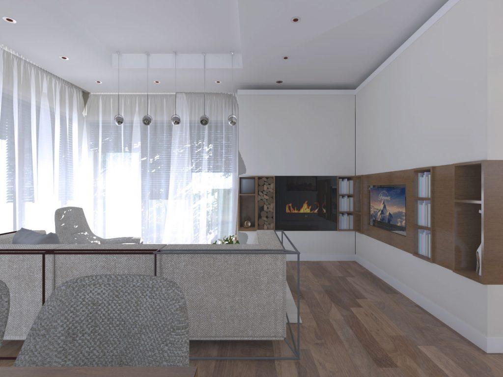 Projekt architektoniczny salonu