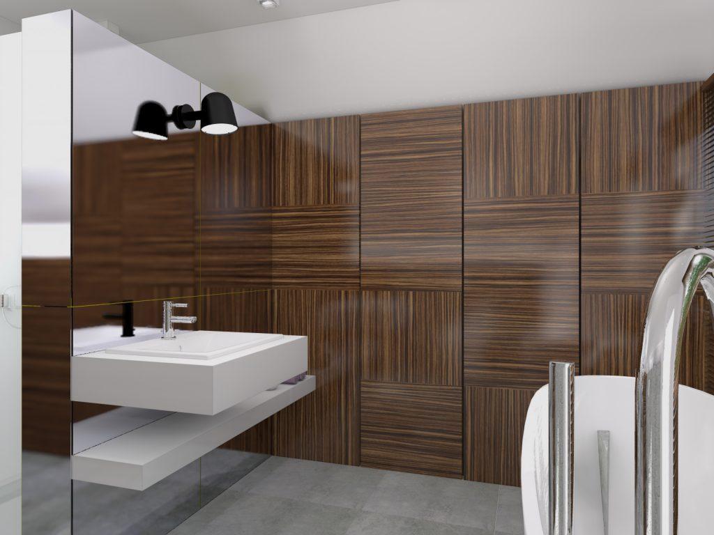 Projekt architektoniczny funkcjonalna łazienka