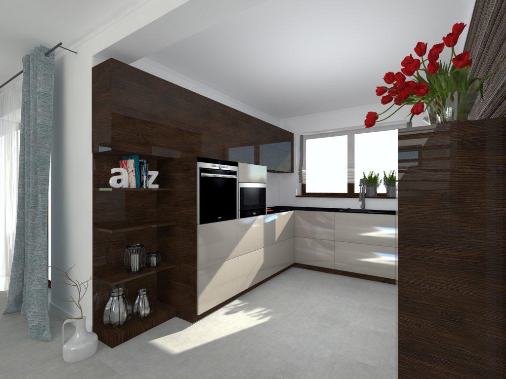 Projekt kuchni funkcjonalne wnętrze