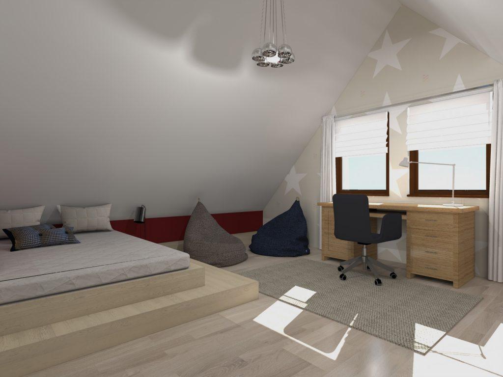 Projekt funkcjonalne wnętrze pokój