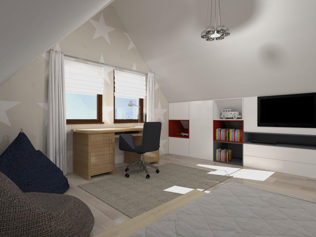 Funkcjonalne wnętrze pokój syna