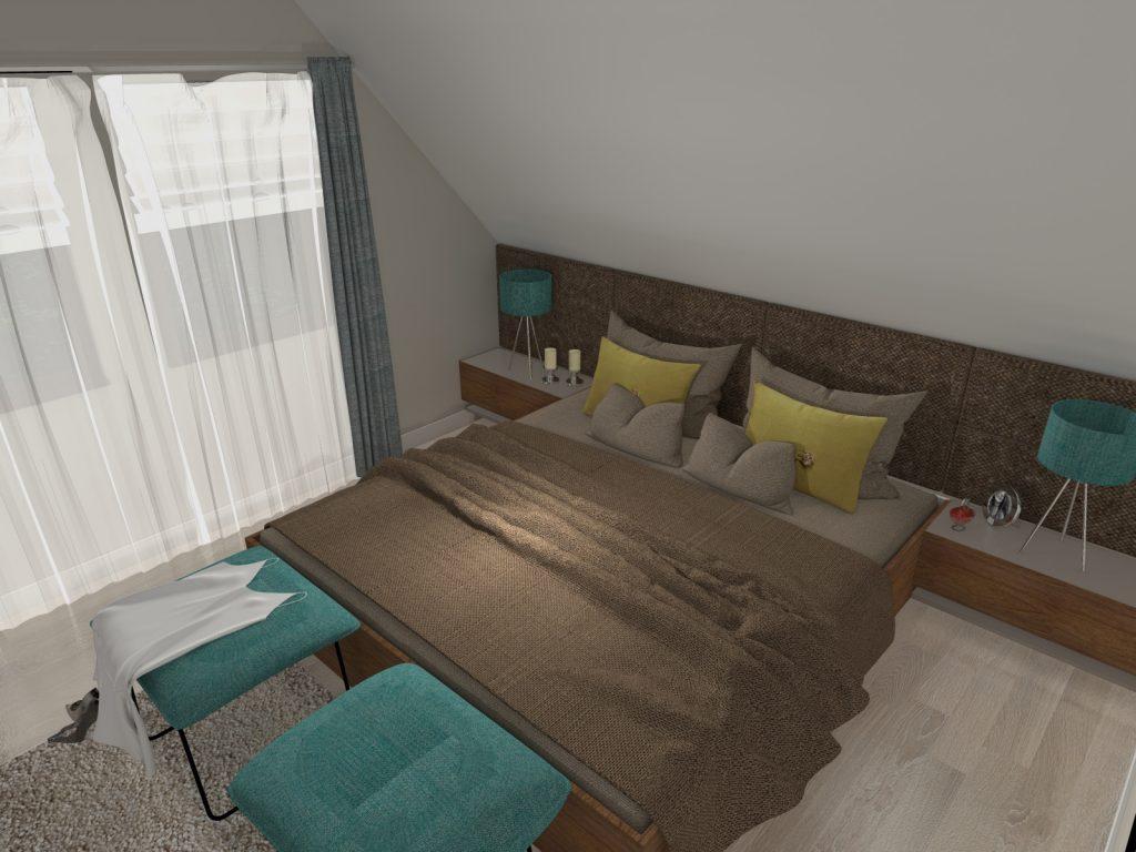 Funkcjonalne wnętrze sypialnia