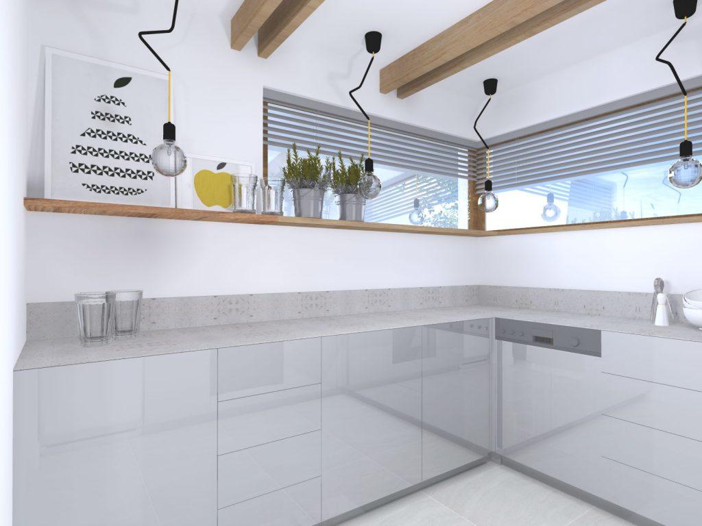 Projekt architekt industrialna kuchnia