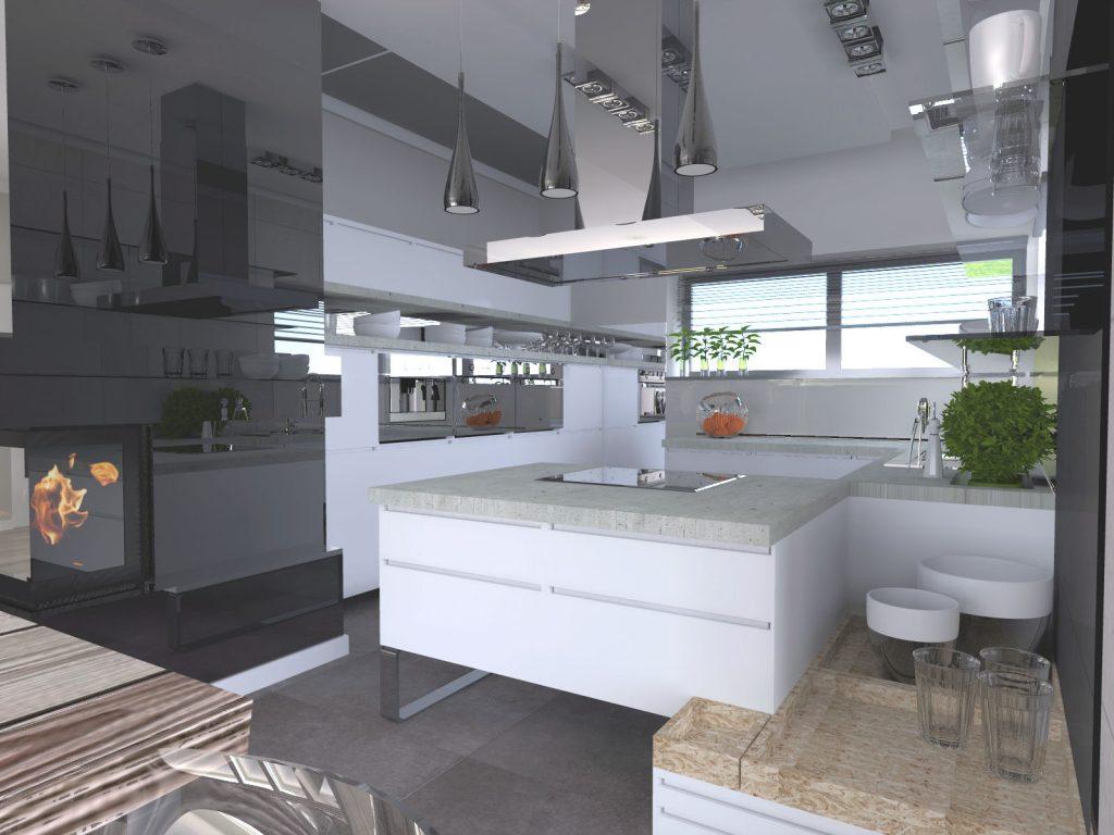 Projekt architektoniczny kuchnia Katowice