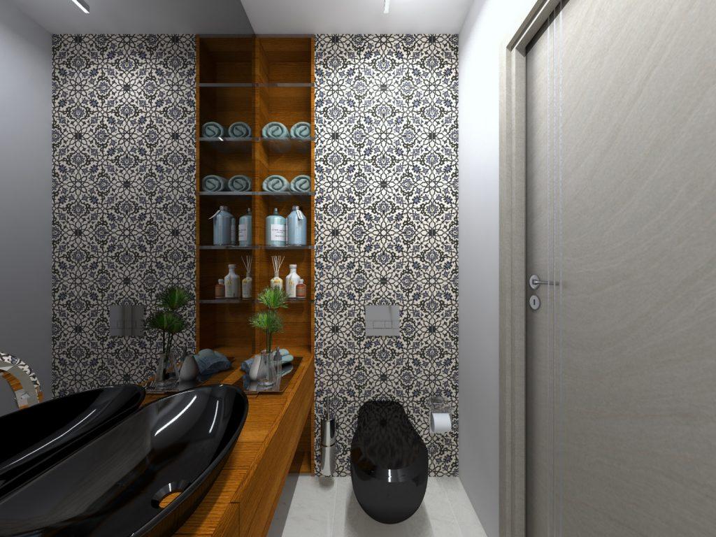 Wnętrze z duszą toaleta